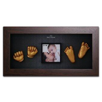 Harga Momspresent Baby Hands and Feet 3D Print DIY Kit with Frame Walnut10 (Brown)