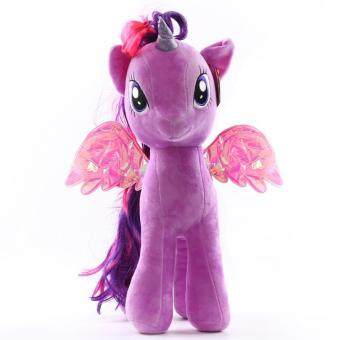Harga My Little Pony pony Baoli rainbow plush toy doll(purple)