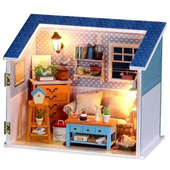 Harga DIY Model Handmade Craft House Illuminated Warm Sunshine Passphrase 3D Cabin for Kids Home Decor