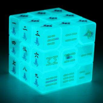 Harga Z-cube 3x3 Light Blue Rubik's Cube Mahjong Magic Cube