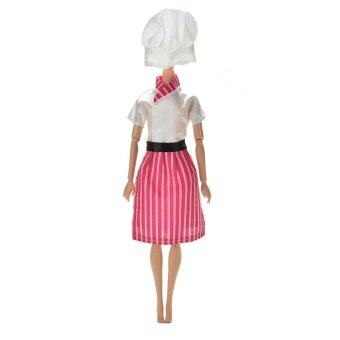 Harga Sporter Dress Apron Hat Chef Clothes Doll for Barbies Dolls 3Pcs