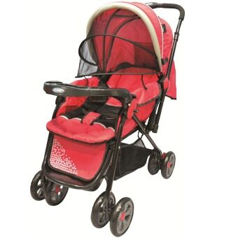 Harga U-Baby ST610-F Baby Stroller (Red)