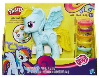 Harga Play-Doh My Little Pony Rainbow Dash Style Salon