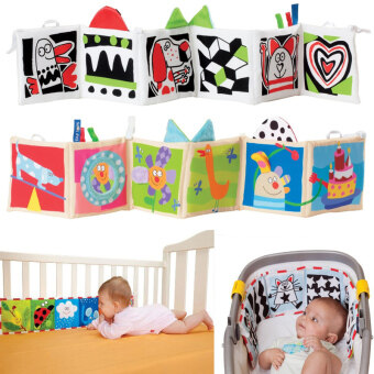 Harga Double Sided Baby Cloth Book Crib Books Clip On Pram Cot Lear Baby Toys Mobiles Toy Readings Cloth Books
