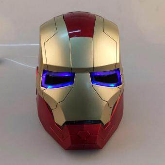 Harga IRON MAN iron man Helmet Mask can open eyes can shine CHAMPAGNE / gold optional