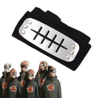Harga 1pc Black Anime Naruto Action Figure Pain Konan Headband Unisex Cartoon Naruto Cosplay Costume Accessories for Boys and Girls