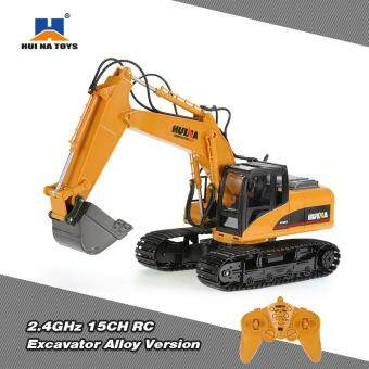 Harga Original HUI NA TOYS 2.4GHz 15CH Engineering Electric Excavator Construction Truck RC Car Alloy Version
