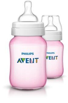 Harga Philips Avent Classic+ Plus Pink Bottles (England Set) 2 x 9oz / 260 ml (PP)-Twin Pack
