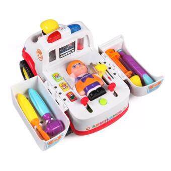 Harga Ambulance Car with Light Music and Doctor Kids