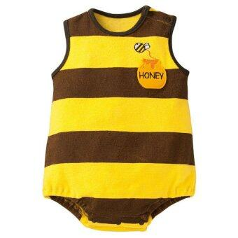 Harga Summer Cotton Sleeveless Baby Bodysuit Girl Boy Infant Newborn Clothing Bebe Rompers Jumpsuit - Yellow