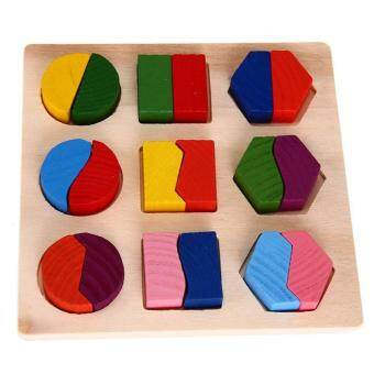Harga Kids Baby Wooden Learning Geometry Educational Toys Puzzle Montessori Early Learning