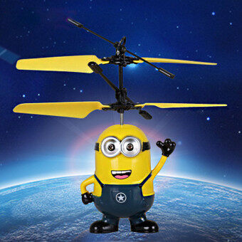 Harga Despicable Me Minion Banana Mini Helicopter, Induction Vehicle, Flying