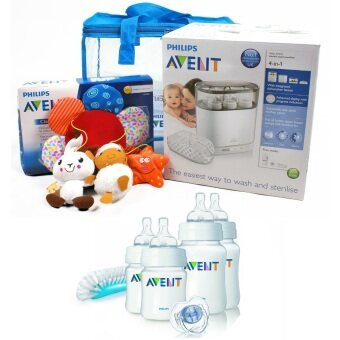 Harga Philips Avent 4 in 1 Electric Sterilizer + Avent Classic Newborn Starter Set + Free Gift