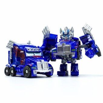 Harga Hanyu King Kong Q Version Transformed Toys King Kong Mini Ransformer Robot Transforming Car Robot Toys-Blue
