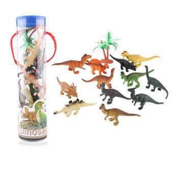 Harga 12Pcs Novelty Jurassic Park Toy Plastic Mini Dinosaurs Model Toys