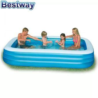 Harga Bestway 2.62 Meter 54006 Large Inflatable Family Swimming Pools