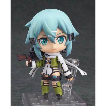"Harga Cute Nendoroid Sword Art Online II Asada shino #452 PVC Action Figure Collection Model Toy 4"" 10CM"