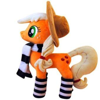 Harga New party styles My Little Pony Rainbow Unicorn Horse Plush Doll Toy 40+--ORANGE