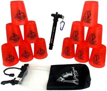 Harga 12 Pics Rapid Cup Speed Stack Red One Set Translucent