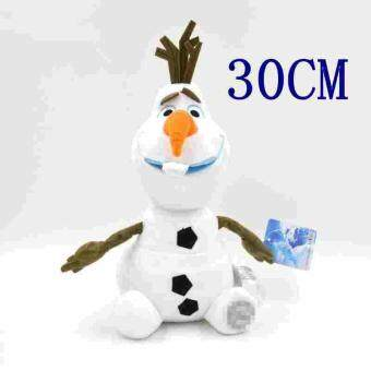Harga 30CM Snowman Olaf Stuffed Plush Toy Doll