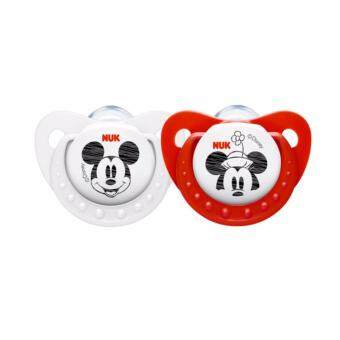 Harga NUK Sleeptime Mickey Mouse Soother - Step 1 0-6 months Red + White