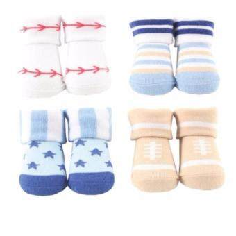 Harga Luvable Friends Newborn Baby Boys' 4-Piece Set Giftbox