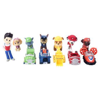 Harga Movie Character 12pcs PAW PATROL Marshall Rubble Rocky Skye Figure Toys Gift A6