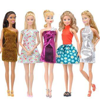 Harga Handmade Doll Clothes 5 Sets of Fashion Slim Skirt Daily Dresses for Barbie Dolls