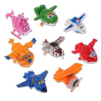Harga 8 Pcs Mini Super Wings Transformer Plane Toy HOGI ARI JEROME BJ Bong Daalji Mina