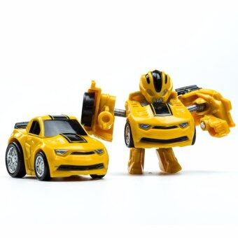 Harga HengSong Hornets King Kong Q Version Transformed Toys King Kong Mini Ransformer Robot Transforming Car Robot Toys-Yellow