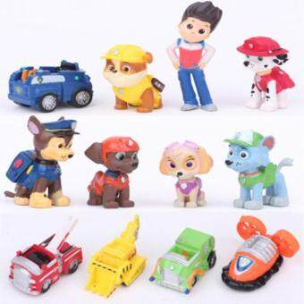 Harga 12pcs Paw Patrol Marshall Rubble Rocky Zuma Skye Toy Kids Party Gift Fun Cute