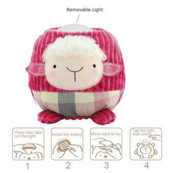 Harga niceEshop Cute Sheep Plush Toy Baby Sleep Lamp Battery-Operated Kids Night Light Tap Light For Easter & Christmas(Red Sheep)