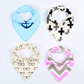 Harga Baby lily 4pcs Baby Burp Cloths Bandana Baby Kids Girl Boy Bibs