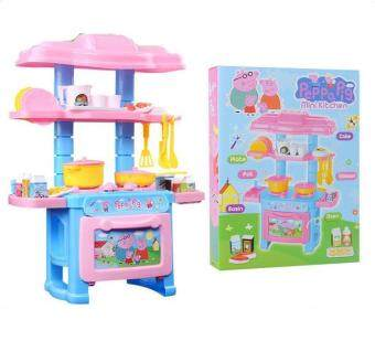 Harga Good Service Kitchen Toys Pink Pretend Play House Toys Kitchen Cooking Simulation Model Happy Kitchen Toy