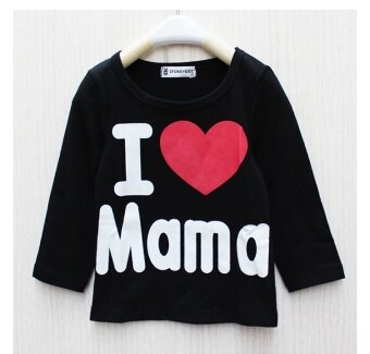 Harga ilovebaby I Love Papa Mama Newborn Baby Boy Girl Long Sleeved T Shirts Tops Clothes - black
