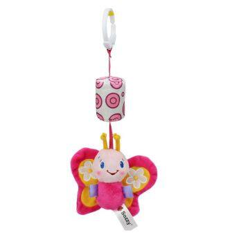 Harga Sozzy Hanging Butterfly Rattle Windchime Stroller Toy Accessory