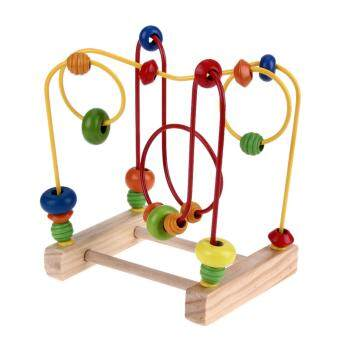 Harga Wooden Toys Baby Math Toys Colorful Mini Around Beads Wire Maze Educational Math Toy for Children