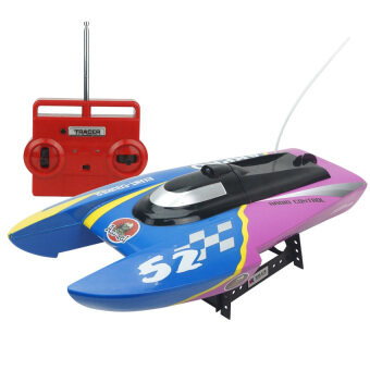 Harga Black Shop International Kids High Speed Electric Boat Radio Remote Control 2.4Ghz Rtftoy (Blue)