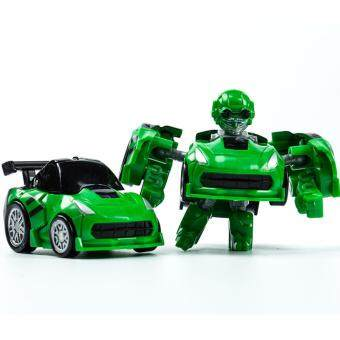 Harga HengSong Rescue King Kong Q Version Transformed Toys King Kong Mini Ransformer Robot Transforming Car Robot Toys-Green