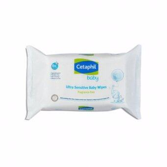 Harga CETAPHIL BABY WIPES FRAGRANCE FREE 80'S