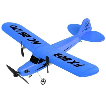 Harga Black Shop International Fx803 2Ch Remote Control Plane Rc R/C Airplane With Gyro (Blue)
