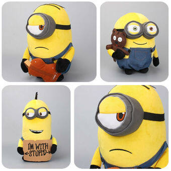 Harga Big Size Minions Kevin Bob Holding Teddy Bear Plush Toys Cute Stuffed Animals Kids Birthday Gift 33-44 CM