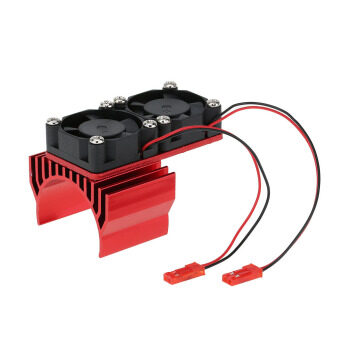 Harga 7019 Motor Heat Sink With Two Cooling Fans for 1/10 HSP RC Car 540/550 3650 Motor