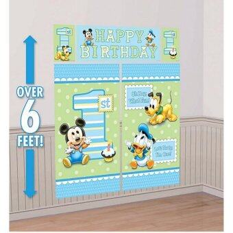 Harga Amscan Baby Mickey Mouse Happy Birthday Scene Setter Photo Booth 6ft
