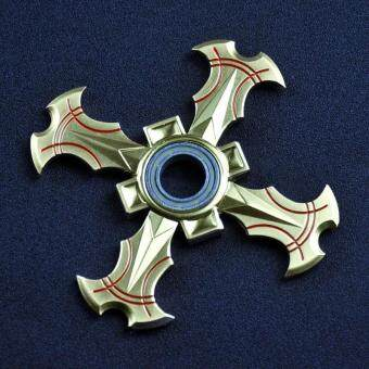 Harga For Ninja Shuriken Dart Hand Spinner Tri Fidget Desk Toy EDC Focus ADHD Golden