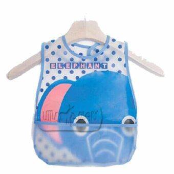 Harga Baby Waterproof BIB with Rice Pocket - Elephant