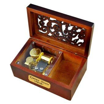 Harga Laxury Creative Engraved Wooden 18-note Wind-up Musical Box,Musical Toys,Tune:Memory