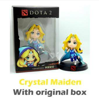 Harga 8-12cm Dota 2 Figure Kunkka Lina Pudge Tidehunter Queen of Pain Crystal Maiden Boxed PVC Action Figures Toy