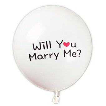 Harga Five Star Store 10Pcs ''Will You Marry Me'' Balloons Red Heart Propose Wedding Marriages Party