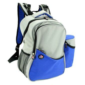 Harga Bubbles Aiden Diaper Backpack Blue & Grey